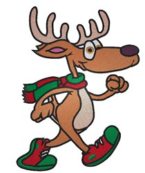 Cartoon Reindeer embroidery design
