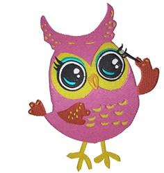 Makeup Owl embroidery design