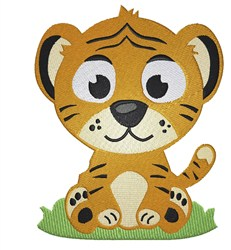 Cute Tiger embroidery design