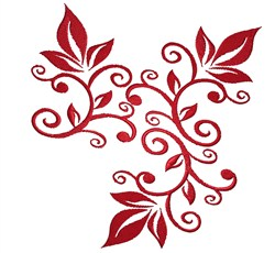 Pretty Leaves embroidery design