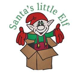 Santas Little Elf embroidery design