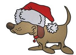 Santa Dog embroidery design