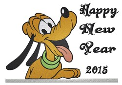 Happy New Year 2015! embroidery design