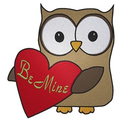 Owl  Be Your Valentine embroidery design