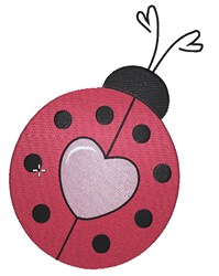 Love Struck Ladybug embroidery design