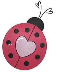 Love Struck Ladybug embroidery design