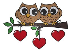 Owlways Love You embroidery design