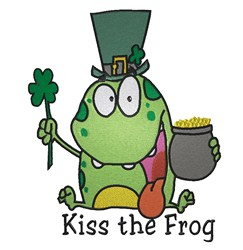 Kiss The Frog embroidery design
