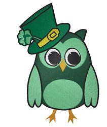 St. Patricks Owl embroidery design