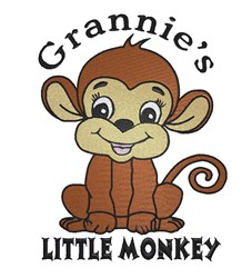Grannies Little Monkey embroidery design