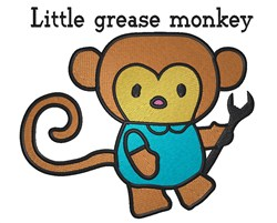 Little Grease Monkey embroidery design