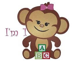 Monkey Blocks Im One embroidery design