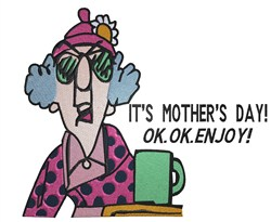 Maxine Mothers Day embroidery design