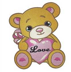 Teddy Heart With Love embroidery design
