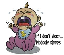 I Sleep You Sleep embroidery design