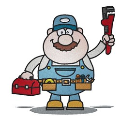 Plumber embroidery design
