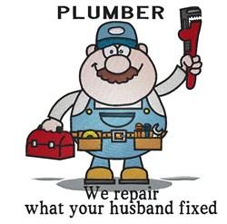 Plumber We Repair embroidery design