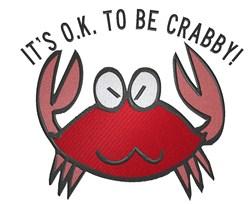 Im Crabby! embroidery design