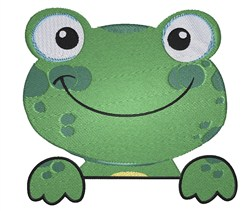 Frog Dude embroidery design