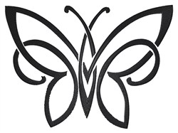 Tattoo Butterfly embroidery design