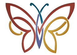 Colorful Tattoo Butterfly embroidery design
