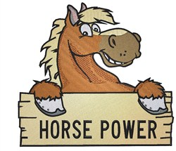 Horse Power embroidery design
