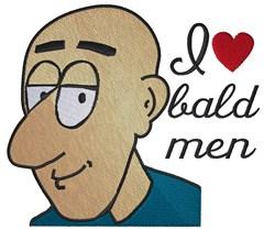 I Love Bald Men embroidery design