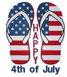 July 4th Flag embroidery design