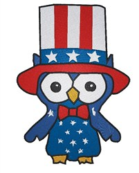 Patriotic Owl embroidery design