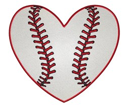 Heart Belongs To Baseball embroidery design