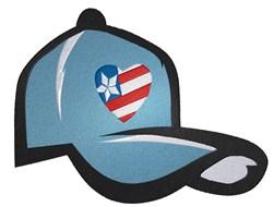 Patriotic Baseball Cap embroidery design