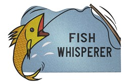 Fish on a hook Fish Whisperer embroidery design