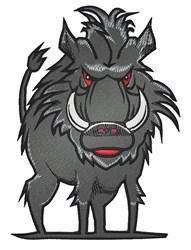 Wild Hog embroidery design