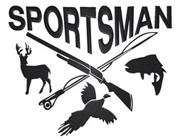 Sportsman Design embroidery design