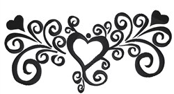 Heart Swirl embroidery design