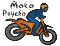 Motorcycle Moto Psycho embroidery design