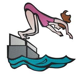 Girl Diver embroidery design