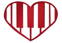 Piano Heart embroidery design
