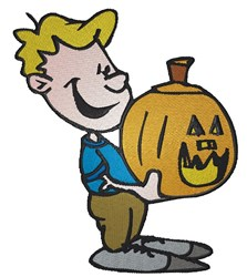 Pumpkin Boy embroidery design