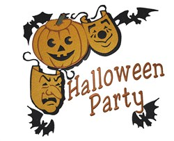 Halloween Party embroidery design