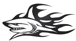 Flame Shark embroidery design