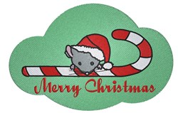 Merry Christmas Mouse embroidery design