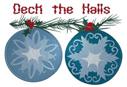 Christmas Tree Ornaments embroidery design