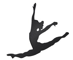 Jazz Dance Silhouette embroidery design