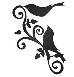 Large Bird Flourish embroidery design