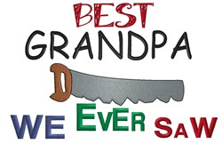 Handyman Grandfather embroidery design