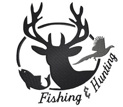 Fishing And Hunting embroidery design