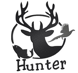 Fishing and Hunting Hunter embroidery design