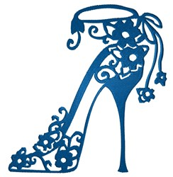 Tattered Lace Pumps embroidery design