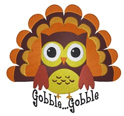 Owl Goble..Gobble embroidery design